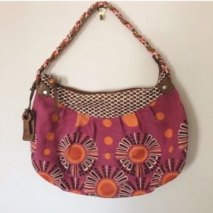 Fossil Braided Handle Hobo Purse